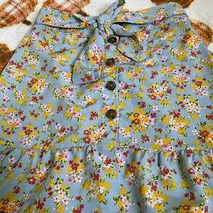TOP SHOP flower skirt like new !